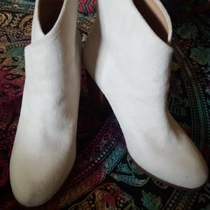 Joe's Jeans White Suede Ankle Boots Shoes 9